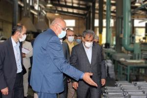 بازدید استاندار قزوین از شرکت پلاتین ایران